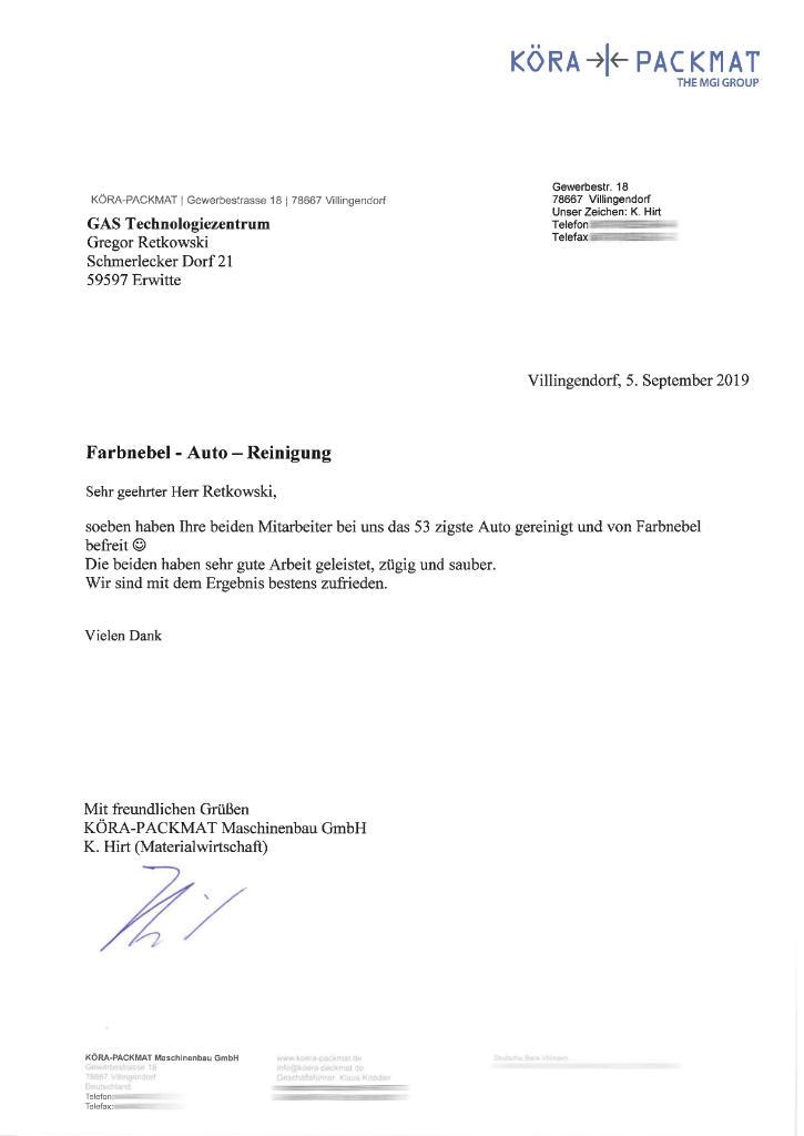 Farbnebel-Schaden in Villingendorf