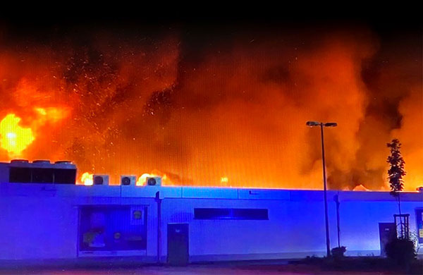 Großbrand in Wendlingen